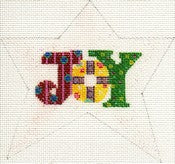 """Joy"" Star Ornament ab193"