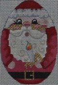 Santa Oval Ornament