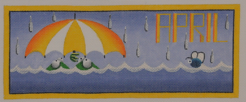 April Frogs - BeStitched Needlepoint