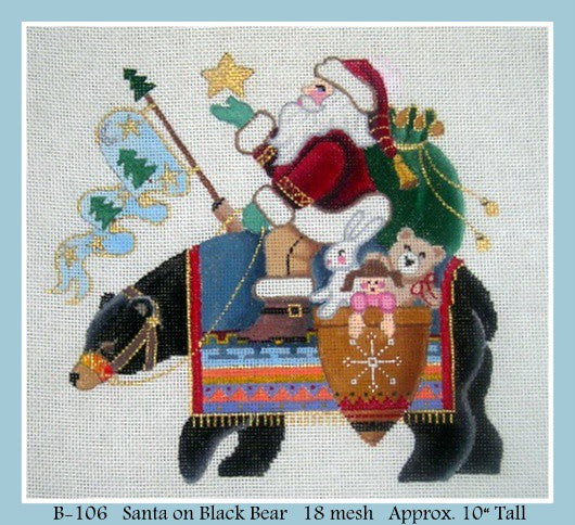 Santa on Black Bear
