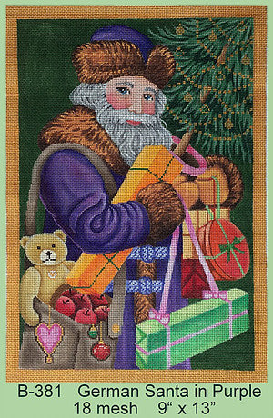 German Santa in Purple