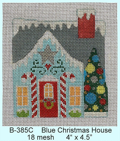 Blue Christmas House