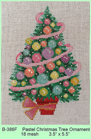 Pastel Christmas Tree Ornament