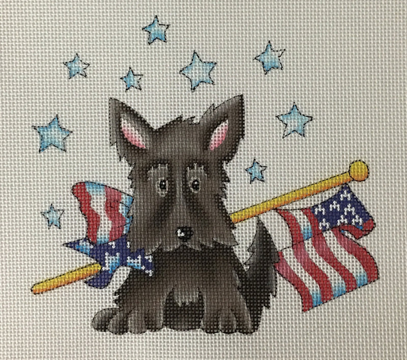 Flag Day Scottie - BeStitched Needlepoint