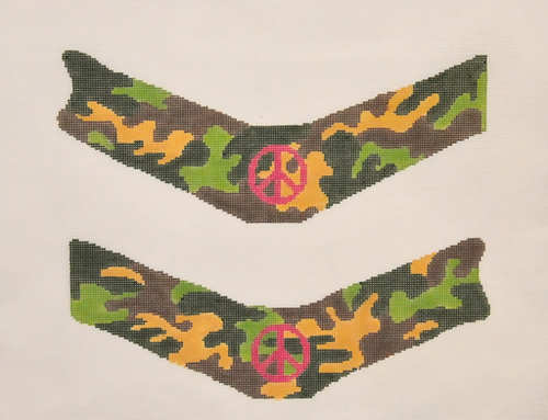 Camo Peace Thong - BeStitched Needlepoint