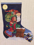 Rooftop Santa Stocking