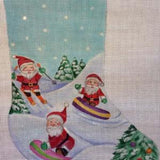 Skiing Santas Stocking