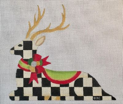 Reclining Checked Reindeer