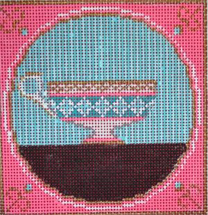 Tea Cup Pink & Turquoise