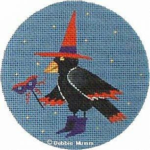 Crow Ornament - BeStitched Needlepoint