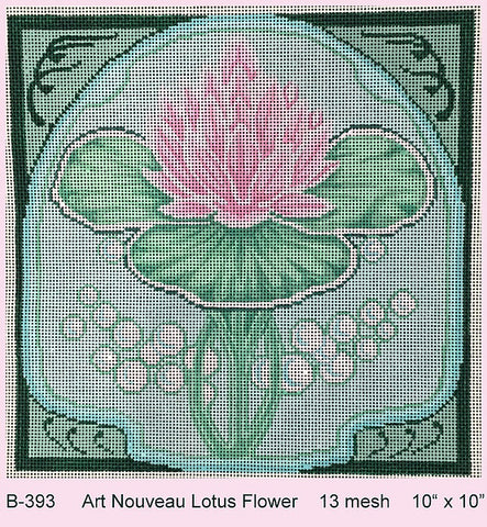 Art Nouveau Lotus Flower