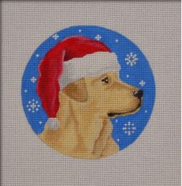 Yellow Lab Santa