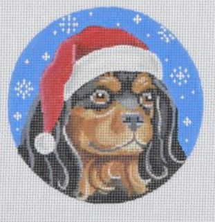Black and Tan Cavalier Santa