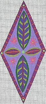 Diamond Flower Ornament - BeStitched Needlepoint