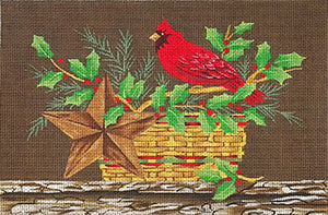 Cardinal & Holly Still Life