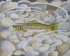 Small Rainbow Trout with Pebbles