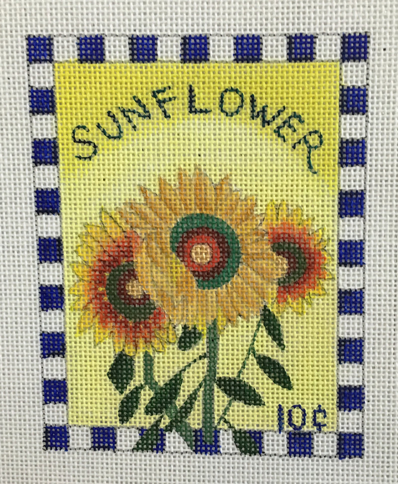 Sunflower Seed Packet - BeStitched Needlepoint