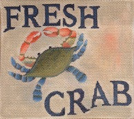 Fresh Crab - BeStitched Needlepoint