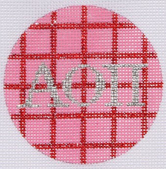 Alpha Omicron Pi - BeStitched Needlepoint