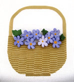 Nantucket Basket with Flowers