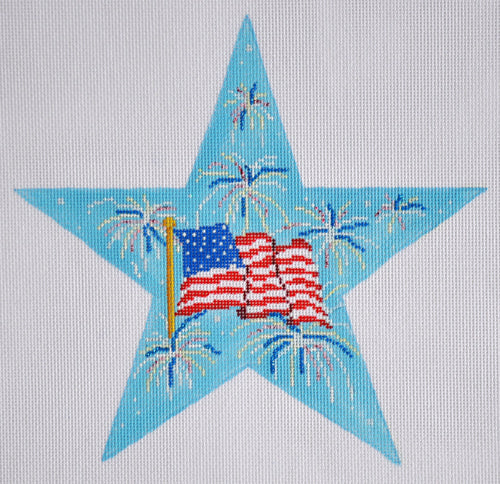 4th of July Star - BeStitched Needlepoint