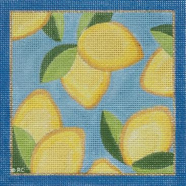 Lilly Inspired Lemon Print Square