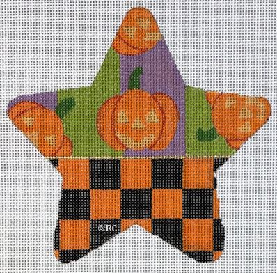 Halloween Checked Star