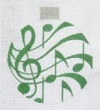 Music Ornament Green