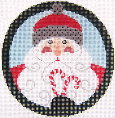 Santa w/Candy Canes - includes stitch guide