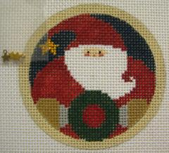 Santa w/wreath - includes stitch guide
