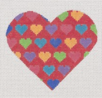 Red Multi Color Heart