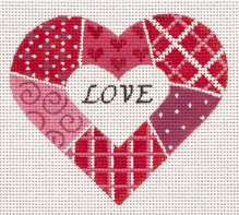 Red & Pink Patchwork Heart