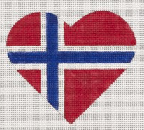 Norwegian Flag Heart