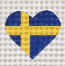 Swedish Flag Heart