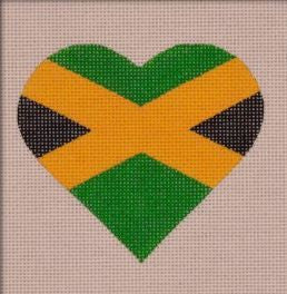 Jamaican Flag Heart