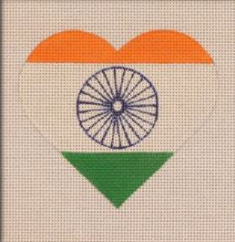 Indian Flag Heart