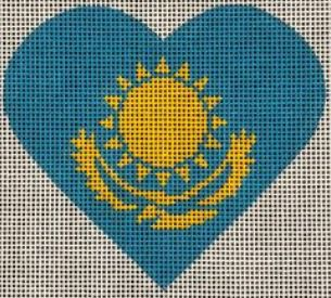Kazakhstan Flag Heart