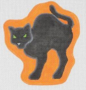 Arched Black Cat