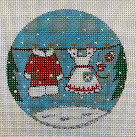 Mrs Claus Clothesline Ornament