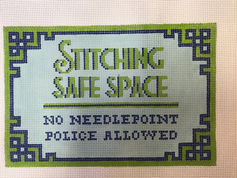 Stitching Safe Space, Blue/Green Small Flat
