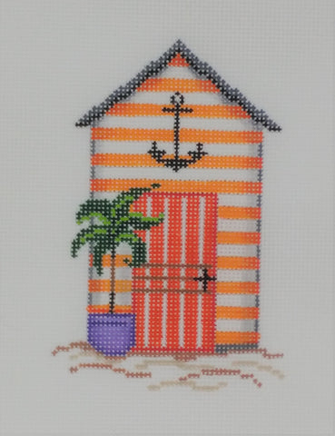 cabana, orange with anchor