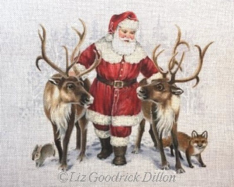 Santa w/ Pair of Reindeer
