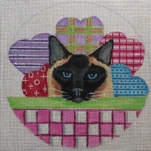 Valentine Cat Basket