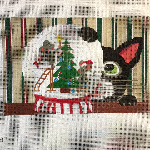 Cat with Snowglobe (Patt-137-18m)