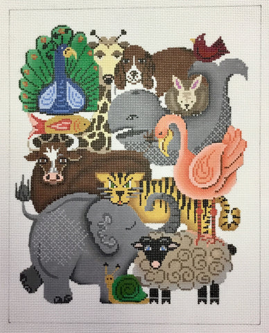 Animal collage A with eleph, sheep 11640