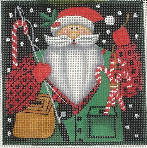 WOODLAND SANTA - FISHERMAN
