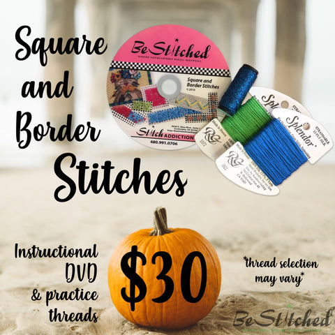 Square and Border Stitches DVD & Fibers