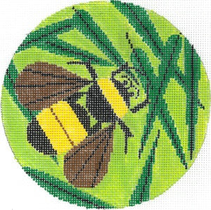 Bee Green Background Ornament HC-O385