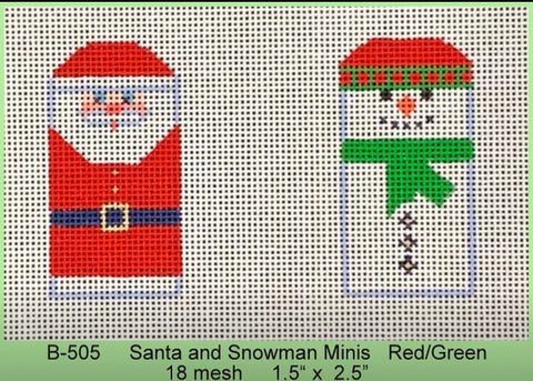 Santa/Snowman Minis in Red/Green