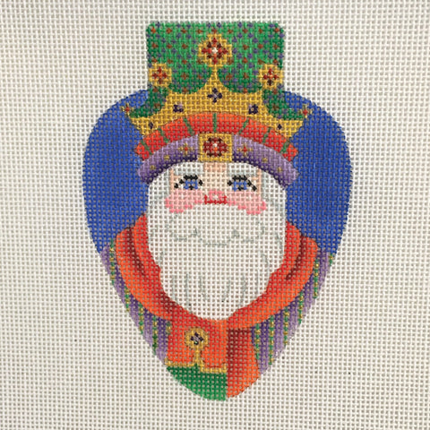 Crowned Santa Light Bulb